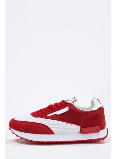 Defacto –Fit Bağcıklı Spor Ayakkabı Kırmızı